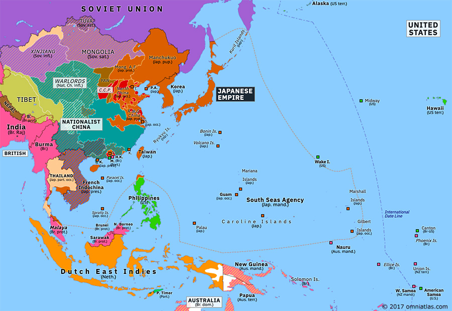 Map Of Asia 1941.Pearl Harbor And Its Aftermath Historical Atlas Of Asia Pacific