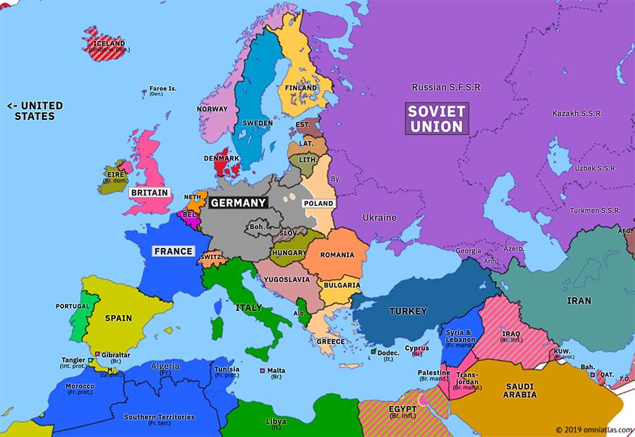 Map Of Europe 1939 Invasion of Poland | Historical Atlas of Europe (16 September 1939