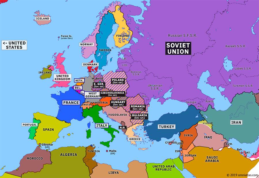 Berlin Wall Historical Atlas Of Europe 26 June 1963 Omniatlas