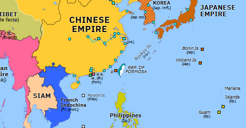 taiwan on a map of asia Triple Intervention And Taiwan Historical Atlas Of Asia Pacific