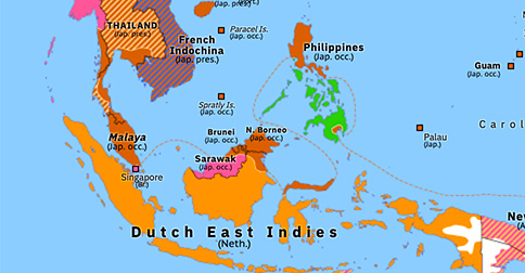 Map Of Asia 1941.Japanese Onslaught In The Pacific Historical Atlas Of Asia