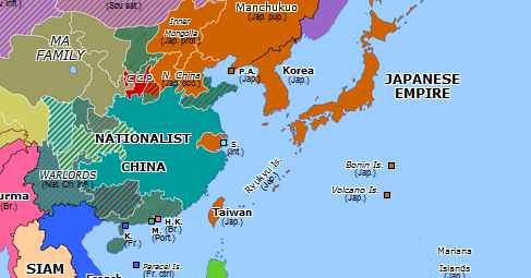 Map Of Asia 1941.Fall Of Nanjing Historical Atlas Of Asia Pacific 13 December