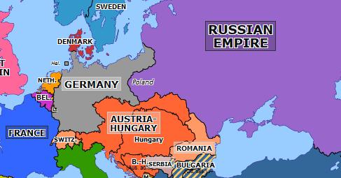 Franco Russian Alliance Historical Atlas Of Europe 4 January