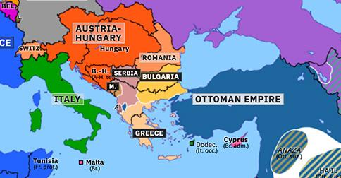bulgaria map in europe First Balkan War Historical Atlas Of Europe 23 April 1913 bulgaria map in europe
