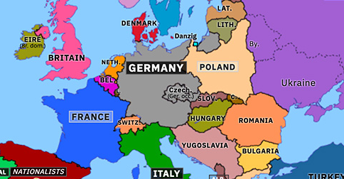 Map Of Europe 1939 End of Czechoslovakia | Historical Atlas of Europe (15 March 1939
