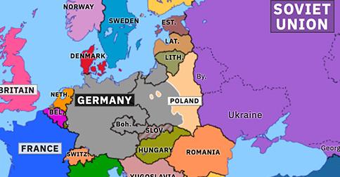 Invasion Of Poland Historical Atlas Of Europe 16 September 1939 Omniatlas