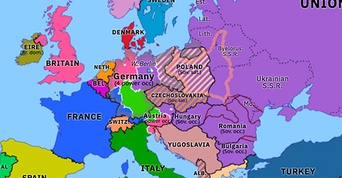 The Iron Curtain Descends Historical Atlas Of Europe 19 April