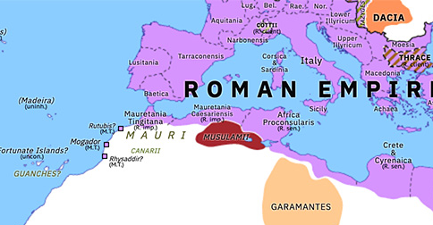 roman north africa map Roman Mauretania Historical Atlas Of Northern Africa 28 January roman north africa map