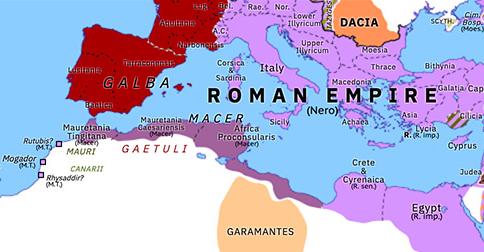 roman north africa map Macer S Rebellion Historical Atlas Of Northern Africa 13 May 68 roman north africa map