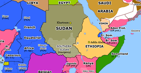 sudan map in africa Independence Of Sudan Historical Atlas Of Sub Saharan Africa 1 sudan map in africa