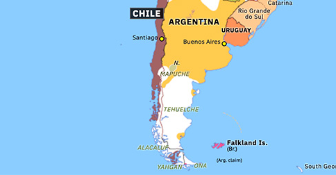 map of patagonia chile Partition Of Patagonia Historical Atlas Of South America 23 map of patagonia chile