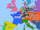 Historical Atlas of Europe 1870: Outbreak of the Franco-Prussian War