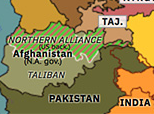 Northern Eurasia 2001: US invasion of Afghanistan
