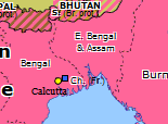 Southern Asia 1905: Partition of Bengal